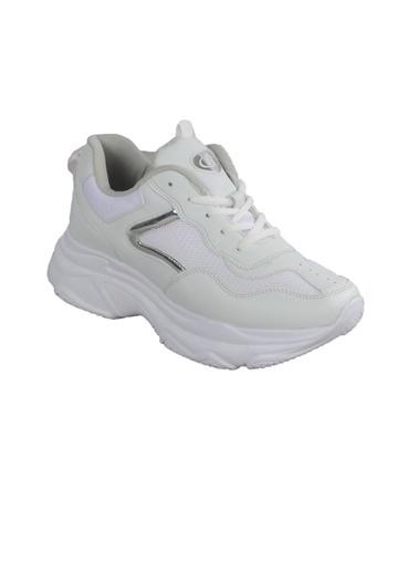 Bestof Bst-053 (Yaz) Beyaz-Beyaz Kadın Spor Ayakkabı Beyaz